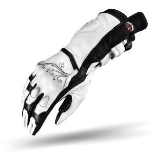 Damskie rękawice motocyklowe Shima Modena białe
