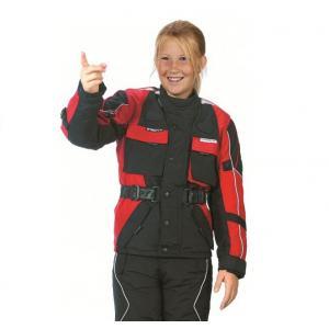 Dziecięca Kurtka motocyklowa Roleff czarno-czerwona