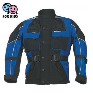Dziecięca Kurtka motocyklowa Roleff czarno-niebieska