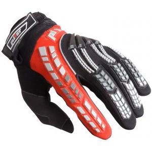 Dziecięce mx Moto rękawice Pilot czarno/czerwone