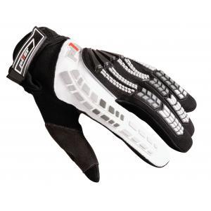 Motocrossowe rękawice Pilot czarno/białe