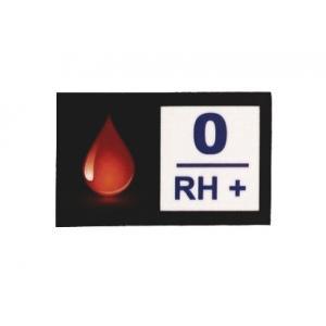 Naklejka z grupą krwi 0 RH+