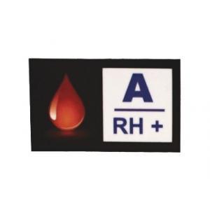 Naklejka z grupą krwi A RH+