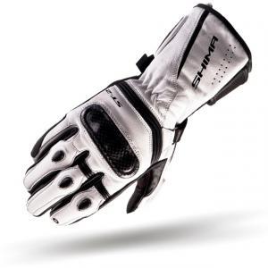 Rękawice motocyklowe Shima ST-2 biało-czarne