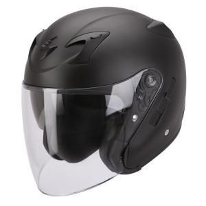 Otwarty kask motocyklowy Scorpion EXO-220 czarny matowy