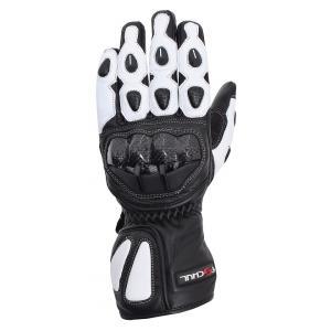 Rękawice motocyklowe Tschul 230 czarno-białe