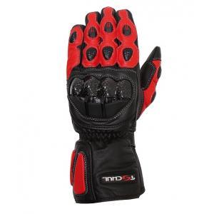 Rękawice motocyklowe Tschul 230 czarno-czerwone