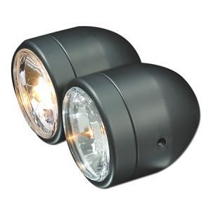 Uniwersalna lampa przednia podwójna czarna