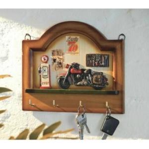Wieszak do kluczy drewniany - 4 haczyki