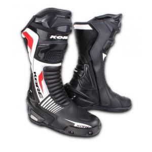 Buty motocyklowe Kore Sport czarno-biało-czerwone