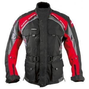 Kurtka motocyklowa Roleff Liverpool czarno-czerwona