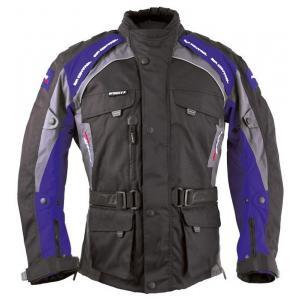 Kurtka motocyklowa Roleff Liverpool czarno-niebieska