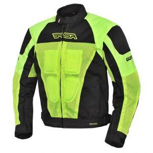 Kurtka motocyklowa RSA Guff czarno-fluo żółta