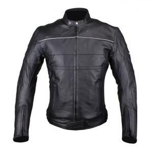 Skórzana kurtka motocyklowa Tschul 837 czarna