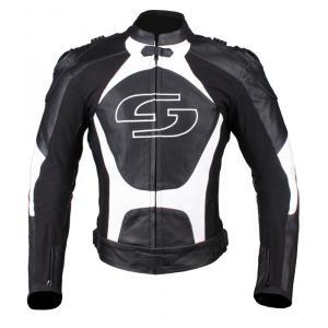 Skórzana kurtka motocyklowa Tschul 841 czarno-biała