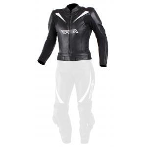 Damska skórzana kurtka motocyklowa RSA Destiny 2 czarno-biała