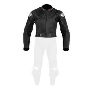 Damska skórzana kurtka motocyklowa Tschul 736 czarna