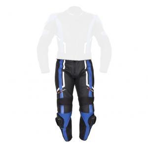 Damskie skórzane spodnie motocyklowe Tschul 187 Sandra czarno-niebieskie wyprzedaż
