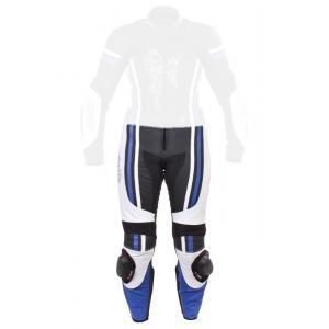 Damskie skórzane spodnie motocyklowe Tschul 554 czarno-niebiesko-białe wyprzedaż