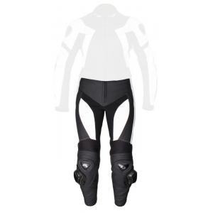 Damskie skórzane spodnie motocyklowe Tschul 736 czarno-białe