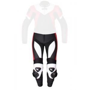 Damskie skórzane spodnie motocyklowe Tschul 736 czarno-biało-czerwone wyprzedaż