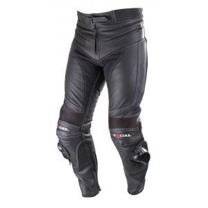 Skórzane spodnie motocyklowe Tschul M-60 czarne