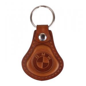 Skórzany brelok do kluczy BMW brązowy