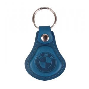 Skórzany brelok do kluczy BMW niebieski