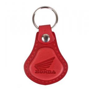 Skórzany brelok do kluczy Honda czerwony