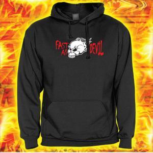 Bluza z motywem Fast as Devil z kapturem