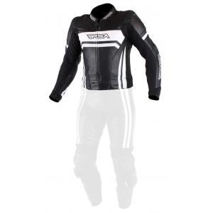 Skórzana kurtka motocyklowa RSA Virus czarno-biała