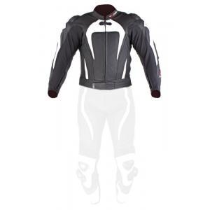 Skórzana kurtka motocyklowa Tschul 575 czarno-biała