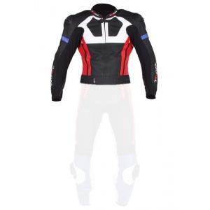 Męska kurtka Tschul 580 czarno-niebiesko-czerwono-biała wyprzedaż