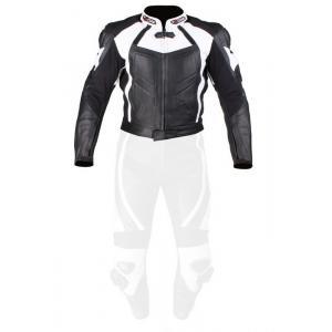 Skórzana kurtka motocyklowa Tschul 770 czarno-biała