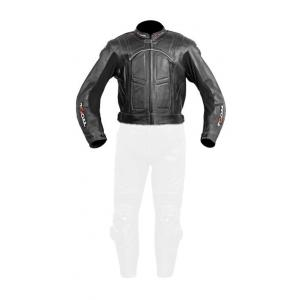 Skórzana kurtka motocyklowa Tschul 787 czarna wyprzedaż