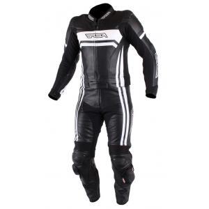 Kombinezon motocyklowy RSA Virus czarno-biały