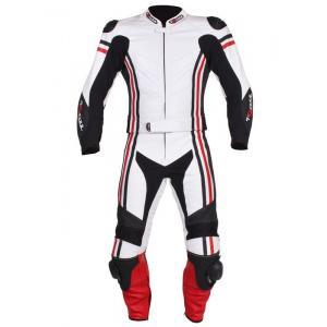 Kombinezon motocyklowy Tschul 555 biało-czarno-czerwony