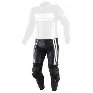 Skórzane spodnie motocyklowe RSA Virus czarno-białe