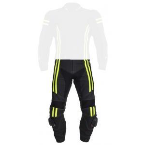 Skórzane spodnie motocyklowe Tschul 555 czarno-fluo żółte