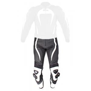 Skórzane spodnie motocyklowe Tschul 575 czarno-białe
