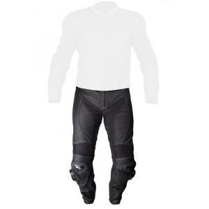 Skórzane spodnie motocyklowe Tschul 737 Vintage czarne