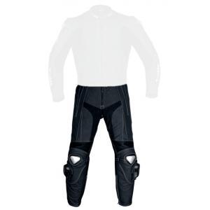 Skórzane spodnie motocyklowe Tschul 747 Speedster czarne