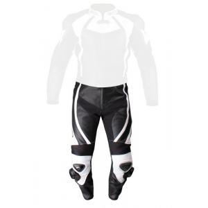 Skórzane spodnie motocyklowe Tschul 770 czarno-białe