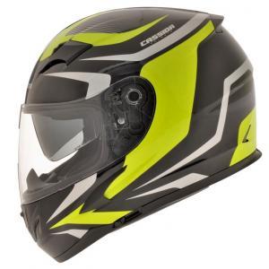 Integralny kask motocyklowy Cassida Integral 2.0 czarno-szaro-fluo żółty