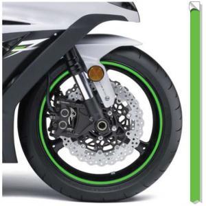 Paski odblaskowe na felgi Print fluo zielone