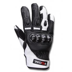 Rękawice motocyklowe Tschul 316 czarno-białe