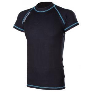 Termo koszulka RSA Heat czarno-niebieska krótki rękaw