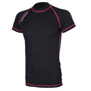 Termo koszulka RSA Heat czarno-różowa krótki rękaw