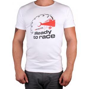 Koszulka z motywem Motozem Ready to race biała