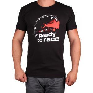 Koszulka z motywem Motozem Ready to race czarna